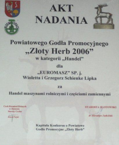 złoty herb 2006