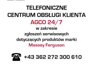 Telefoniczne centrum obsługi klienta AGCO 24/7