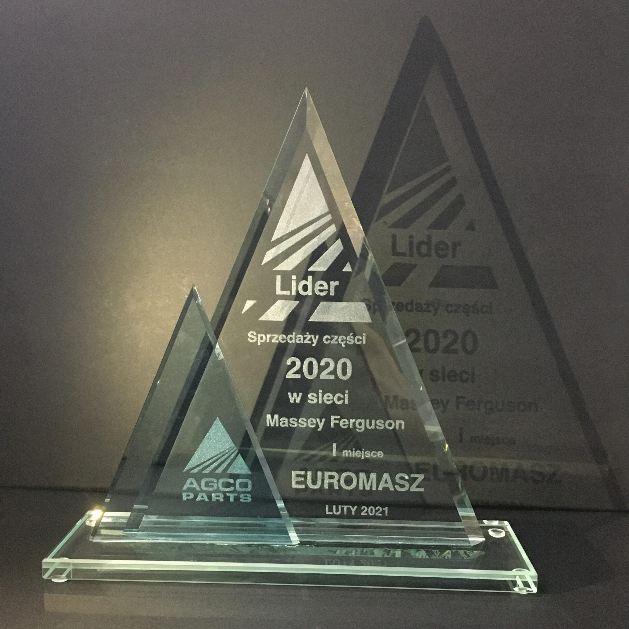 EUROMASZ – Lider sprzedaży części w roku 2020